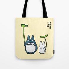 Chu & Chibi Totoro Pop Art - Beige Version Tote Bag
