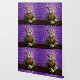 Miss Bunny Lapin in Repose Wallpaper