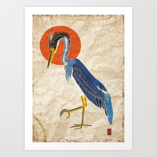 Japanese Crane Art Print