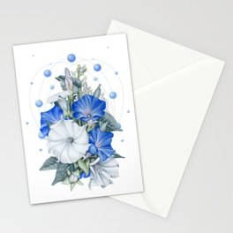 Morning Moon Flower Stationery Cards