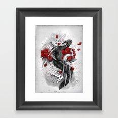 Black Koi Framed Art Print