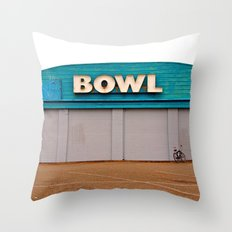 Classic bowling architecture Throw Pillow