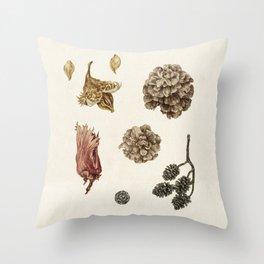Beech, Larch, Alder, Hazel Throw Pillow