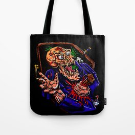Vampire zombie  cartoon illustration Tote Bag