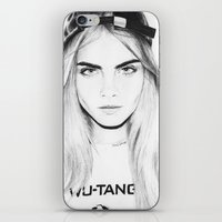 cara iPhone & iPod Skins featuring Cara  by Chris Samba