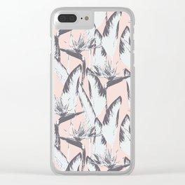 Botanical bird of paradise-Pink Clear iPhone Case