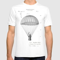 Falling, With Style MEDIUM Mens Fitted Tee White