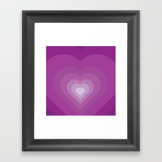 Purple heart Framed Art Print