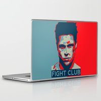 tyler durden Laptop & iPad Skins featuring Tyler Durden by Jason Vaughan