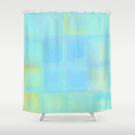 Rainbow Frosted Glass Pattern Shower Curtain