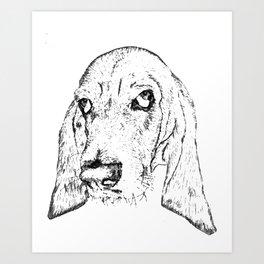 Ain't Nothin' but a Hound Dog Art Print
