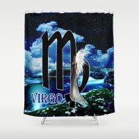 virgo Shower Curtains featuring Virgo by LBH Dezines