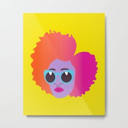 Wild Child #naturalhair #bighair #afro #afropunk Metal Print