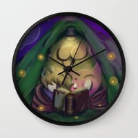 camping Wall Clocks featuring Camping by Nemmer