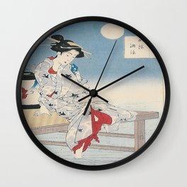 Vintage poster - Cooling of Shijo Noryo Wall Clock