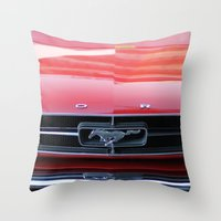 mustang Throw Pillows featuring Mustang by JJ's Photography