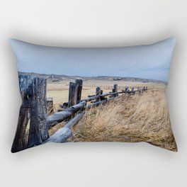 Wyoming Wooden Fence Line Rectangular Pillow