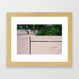Thank You, Stranger. Framed Art Print