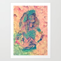 geode Art Prints featuring geode by flower