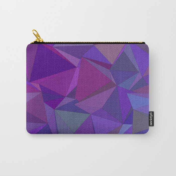 Chaotic purple tiles Carry-All Pouch