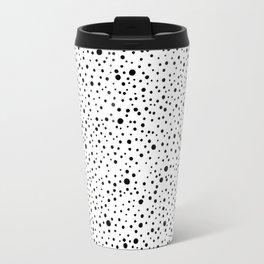 Polka Dots | Black and white pattern Travel Mug