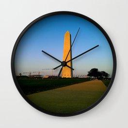 Washington Monument Vignette Wall Clock