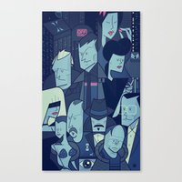 blade runner Canvas Prints featuring Blade Runner by Ale Giorgini
