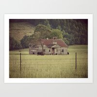 tennessee Art Prints featuring Tennessee by Hilary Walker