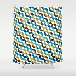 People's Flag of Milwaukee Mod Pattern Shower Curtain