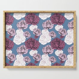 Falling Roses Serving Tray