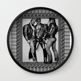 3 LEATHERMEN Wall Clock