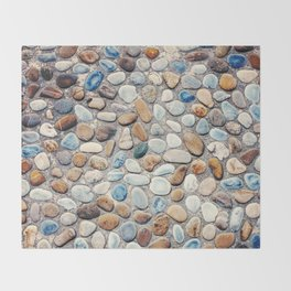 Pebble Rock Flooring V Throw Blanket