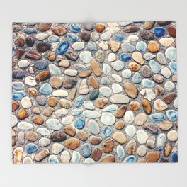 Pebble Rock Flooring V Throw Blanket