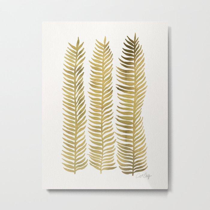 Golden Seaweed Metal Print