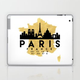 PARIS FRANCE SILHOUETTE SKYLINE MAP ART Laptop & iPad Skin