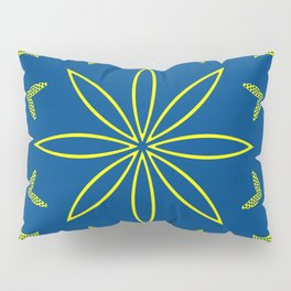Maize & Blue Floral Mandala Pillow Sham