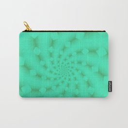 Tess Fractal in Honeydew Carry-All Pouch