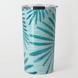 Mid Century Tiki Fronds Travel Mug