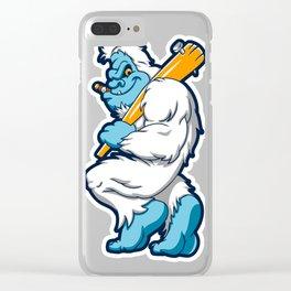Baseball sasquatch Clear iPhone Case
