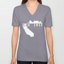 San Jose, California Unisex V-Neck