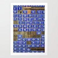 numbers Art Prints featuring Numbers by Marieken