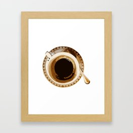 cofe break Framed Art Print
