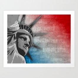 American Liberty Patriot Art Print