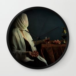 Lady justice with  pomegranate Wall Clock
