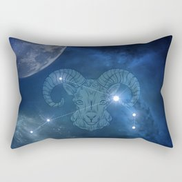 Zodiac sings aries Rectangular Pillow