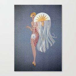"1920's Art Deco Design ""The Flapper"" Canvas Print"