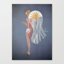 "1920's Art Deco Design ""The Flapper"" Canvas Print"