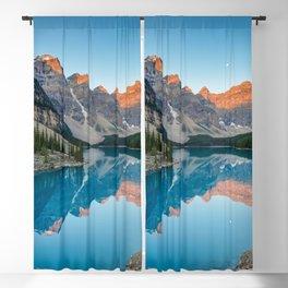 Rocky Mountain Sunrise Moraine Lake Banff National Park Canada Blackout Curtain
