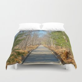 Jesup Boardwalk Trail Duvet Cover