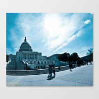 dc Canvas Prints featuring DC by Nick Duarte